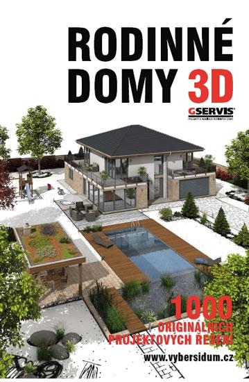 Rodinné domy 3D - 1000 originálních projektových řešení - neuveden - 25,1x36,1