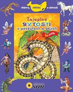 Tajuplné bytosti v pověstech a bájích - 8x puzzle, objevuj, skládej a obkresli