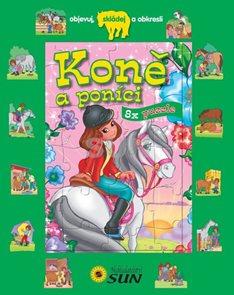Koně a poníci - 8x puzzle, objevuj, skládej a obkresli