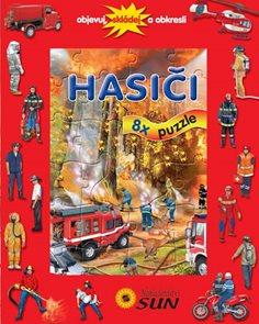Hasiči - 8 puzzle - Objevuj, skládej a obkresli