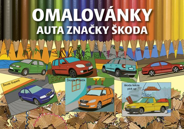 Omalovánky auta značky Škoda - neuveden - 14,8x21,1
