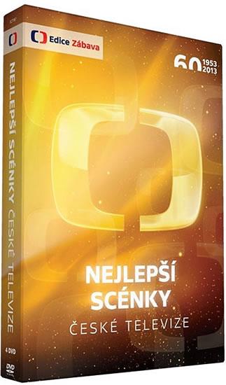 Nejlepší scénky České televize - 4 DVD - neuveden - 13,5x19