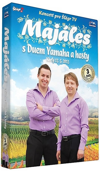 Duo Yamaha - Majáles s Duem Yamaha a hosty - 3 DVD - neuveden - 13,5x19