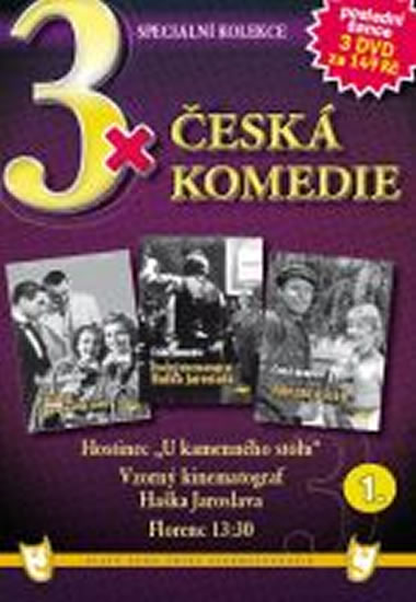 3x DVD - Česká komedie 1. - neuveden - 14,9x21