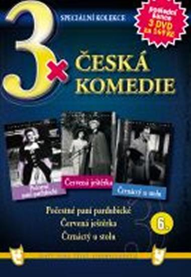 3x DVD - Česká komedie 6. - neuveden - 14,9x21