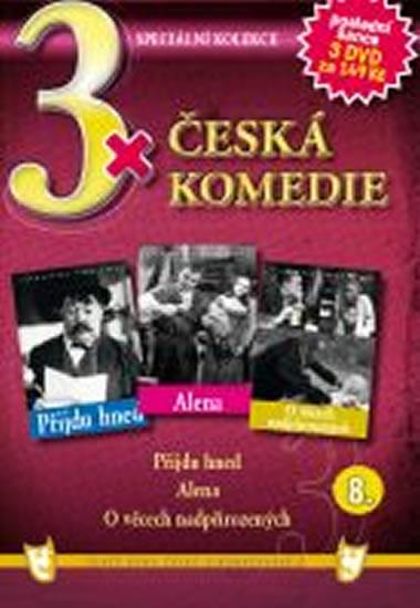 3x DVD - Česká komedie 8. - neuveden - 14,9x21