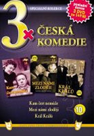 3x DVD - Česká komedie 10. - neuveden - 14,9x21