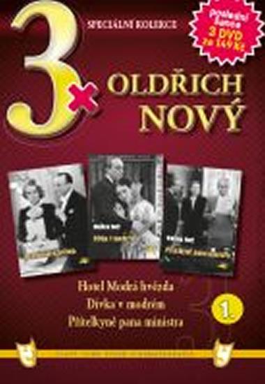 3x DVD - Oldřich Nový 1. - neuveden - 14,9x21