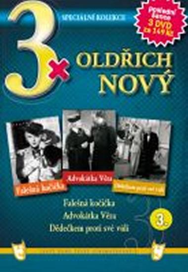 3x DVD - Oldřich Nový 3. - neuveden - 14,9x21