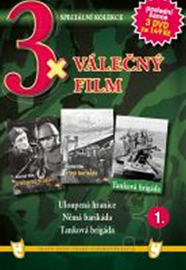 3x DVD - Válečný film 1. - neuveden - 14,9x21