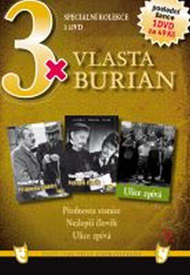 3x DVD - Vlasta Burian V. - neuveden - 14,9x21