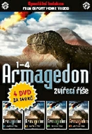 DVD set - Armagedon zvířecí říšel 1 - 4. - neuveden - 13,5x19