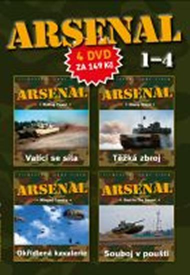 DVD set - Arsenal 1.- 4. - neuveden - 14,9x29,7