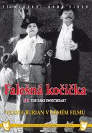 Falešná kočička (1926) - DVD box, němý film s Vlastou Burianem - neuveden - 13,5x19
