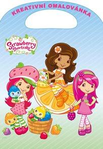 Strawberry - Kreativní omalovánky A4 s výsekem