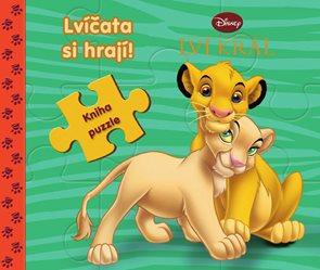 Lví král Lvíčata si hrají! - Kniha puzzle