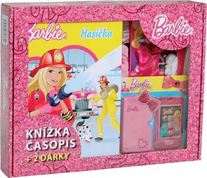 Barbie Hasička - Kufřík (knižka, časopis + 2 dárky)