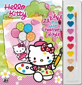 Hello Kitty - Omalovánky s barvami A4