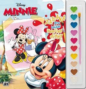 Minnie - Omalovánky s barvami A4